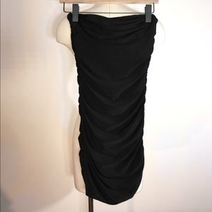 NWOT Poof Couture Black Strapless Bodycon Dress